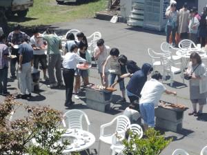 2014.8.4~6 合宿(白樺湖):お楽しみのバーベキュー
