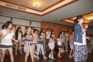 2014.8.4~6 合宿(白樺湖):OBの指導でダンスの練習も