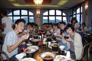 2014.8.4~6 合宿(白樺湖):まずはおいしい食事から!